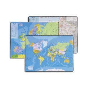 SOUS-MAIN Sous mains carte du PLANISPHERE, dimensions 53x40
