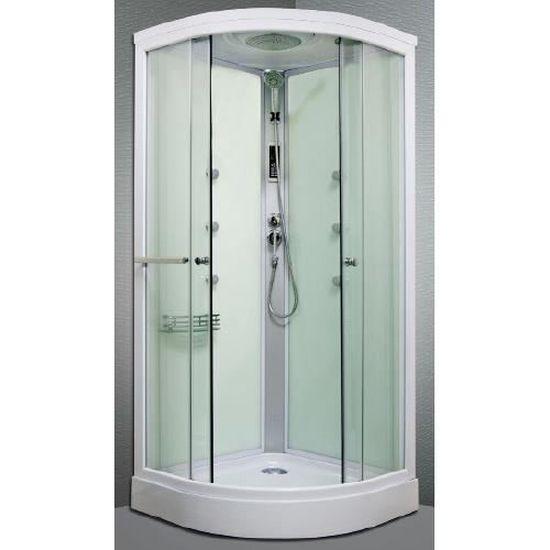 Cabine de douche hydromassante Arpege 1/4c 90cm - Achat / Vente ...