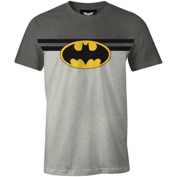 T-Shirt Adulte Batman : T-shirt de Sport - Gris/Noir