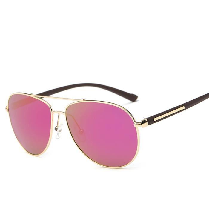 sunglasses Violet Rétro Cadre et Grande soleil homme femme Métal de Cadre Lunettes avec polarisées mixte ZP6xaBvq