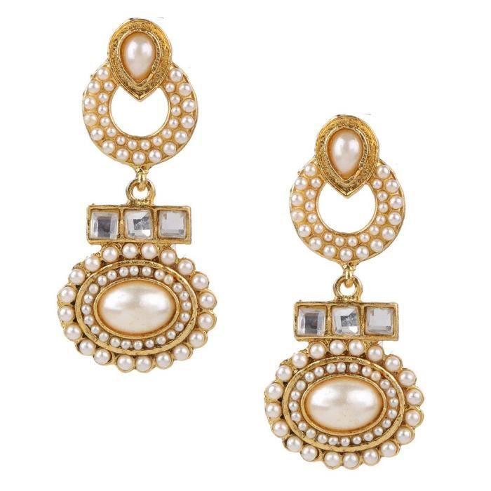 Womens Kundans Earrings For Jewellery Sets Imitation Pearl Earrings ForNNX3S