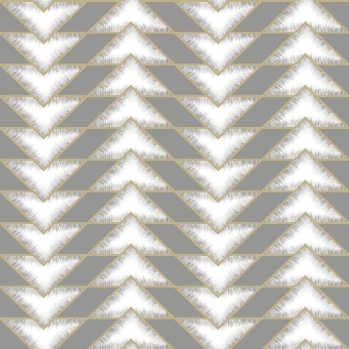 Holden Teton Papier Peint Geometrique Gris 90531