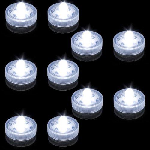 Lot de 10 lampions submersibles led blanche achat for Lampion led exterieur