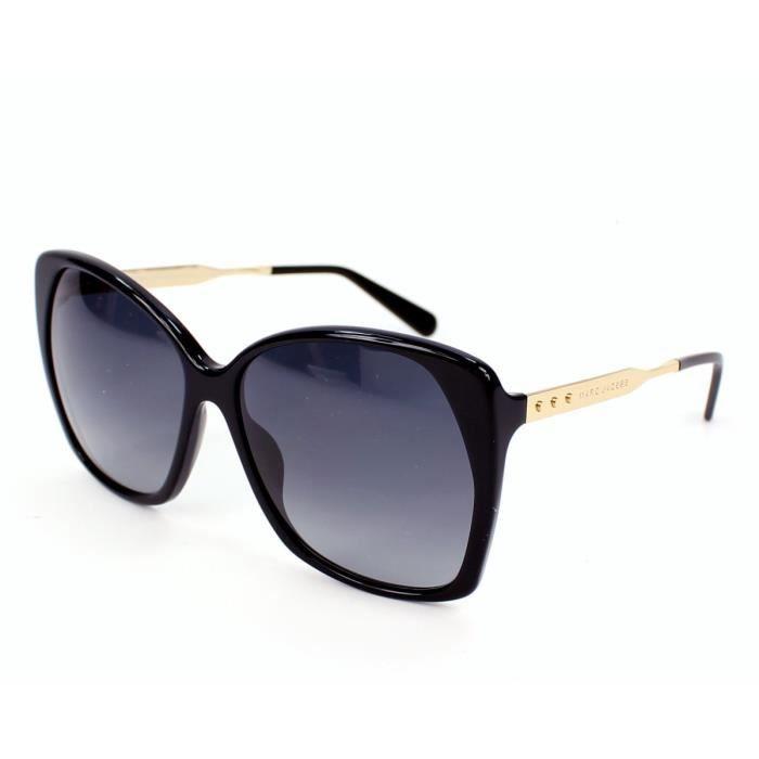 28dbbad93d2bf6 Lunettes de soleil Marc Jacobs MJ 614-S -ANWHD Noir - Or Noir, Or ...