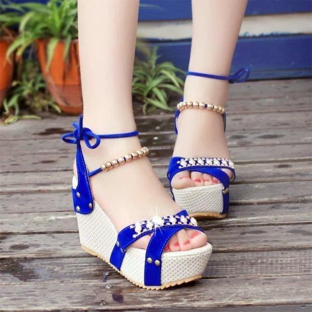 @GLAM Plate-forme d'été pour les Chaussures Fem... bCe0Z9m