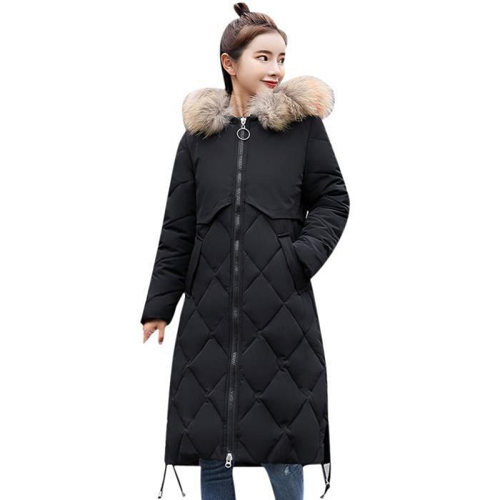 Épais Coierbr Slim Chaud Capuchon Bl5350 Fausse D'hiver En les Veste À Manteau Long Femmes Fourrure ASnrpvAq