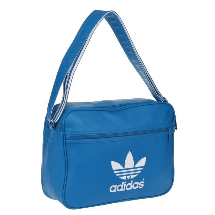 7ed85e6418 ADIDAS Besace Airliner Bleu et blanc - Achat / Vente besace - sac ...