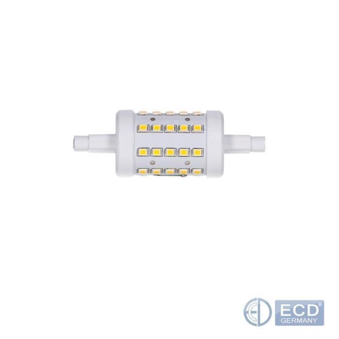 Lumens R7s 7w 78mm Faisceau Halogène ° De X Neu Ac 10 45w L'ampoule 220 Angle Led 360 Ecd Germany Remplace 480 Blanc Ampoules 240 qSztt0