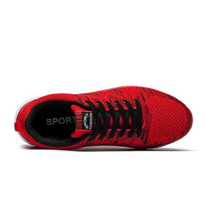 Basket Homme Ultra Léger Chaussures De Sport Durable CHT-XZ109Rouge40 kgk8kP