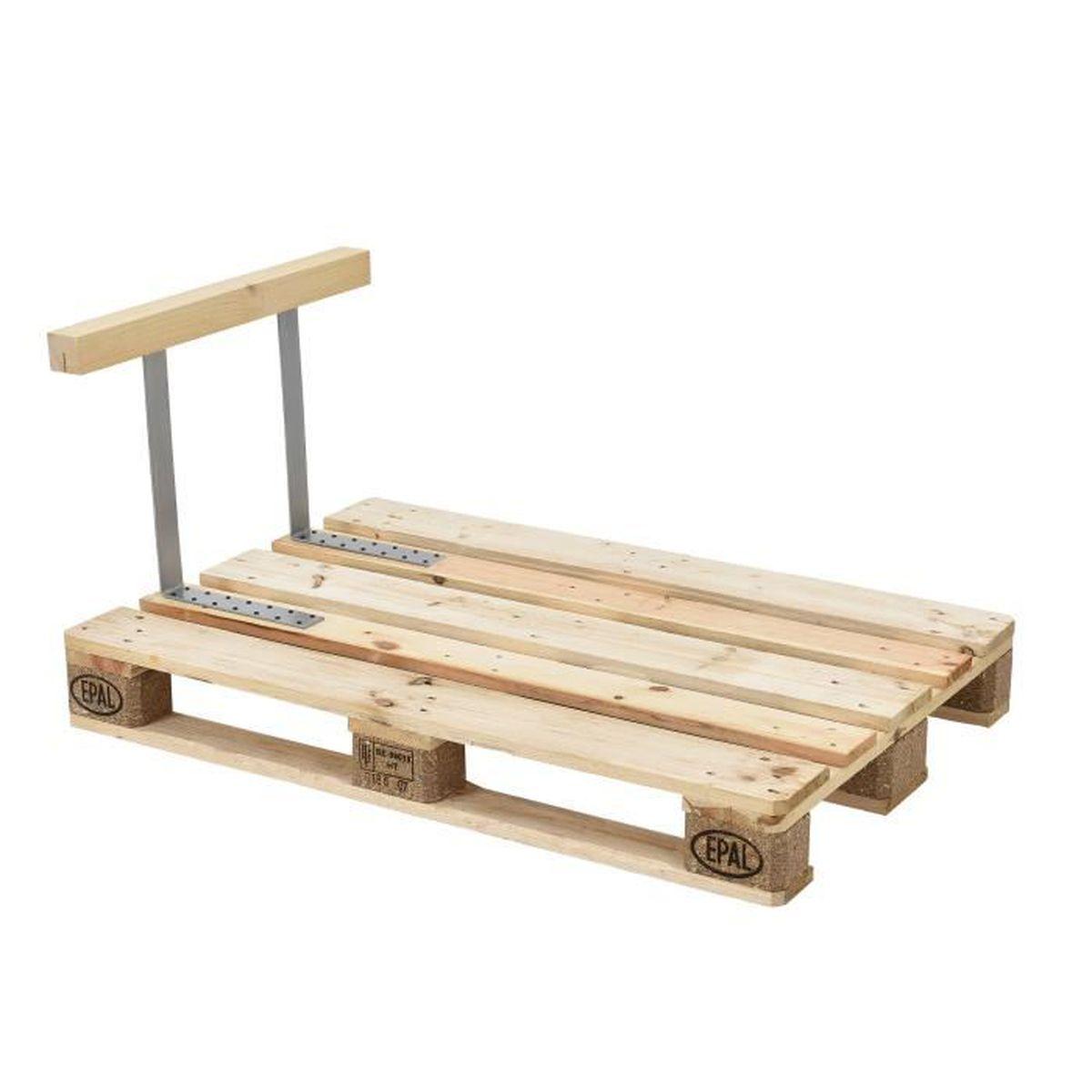 En.casa Appuie-bras pour canapé euro palettes massif aspect de bois ...