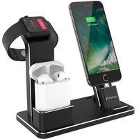 ACCESSOIRES SMARTPHONE iPhone  Station d'accueil aluminium 4 en 1 Noir