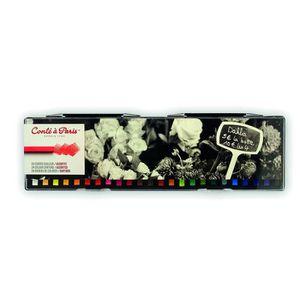 KIT DE DESSIN CONTE A PARIS Boîte plastique 24 carrés couleur as