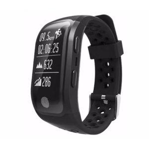 MONTRE CONNECTÉE S908 GPS Sports Smartband-Noir