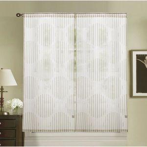 VOILAGE Paire de vitrage MIRAGE - 2x60x120 cm - Beige