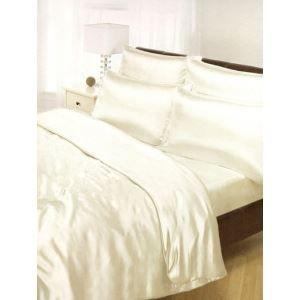 PARURE DE DRAP LIT 160 Parure de lit en satin beige - 6 pièces