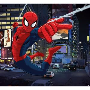 TABLEAU - TOILE SPIDERMAN Panoramique Poster XXL 276x254 cm + supp