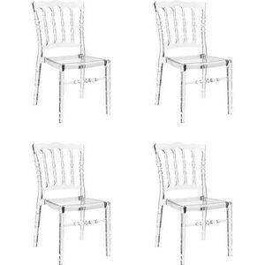 CHAISE Lot de 4 chaises transparentes - Bonaparte