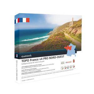 BRACELET D'ACTIVITÉ GARMIN Carte Topo France V4 Nord-Ouest Pro
