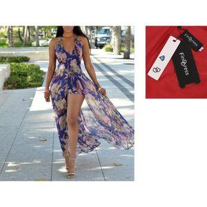 ROBE DE PLAGE FindDress Sexy Robe de Plage Dos Nu Femme pour des