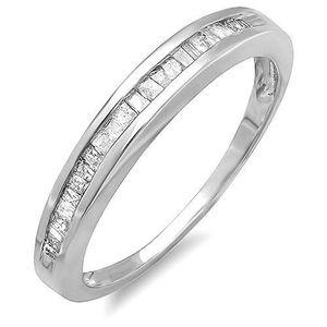 BAGUE - ANNEAU Bague Femme Diamants 0.25 ct  Argent Fin 925-1000