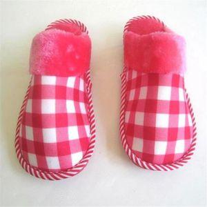 chaussons fourrées femmes mignonne pantoufle chaud hiver peluche intérieur chausson léger version Antidérapant Plus Taille 36-41 eZuzBB