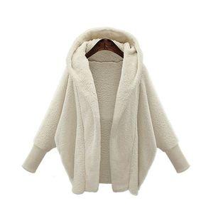 CHAUSSON - PANTOUFLE Manteau long femme veste chaude nouveau Blanc APFX