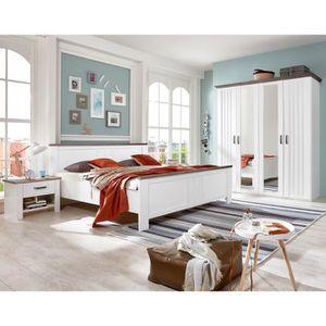 CHAMBRE COMPLÈTE  Chambre adulte en panneaux de particules coloris b