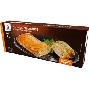 POISSON CUISINÉ Saumon en croûte et ses petits légumes surgelés -