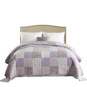 jete de lit violet achat vente pas cher. Black Bedroom Furniture Sets. Home Design Ideas