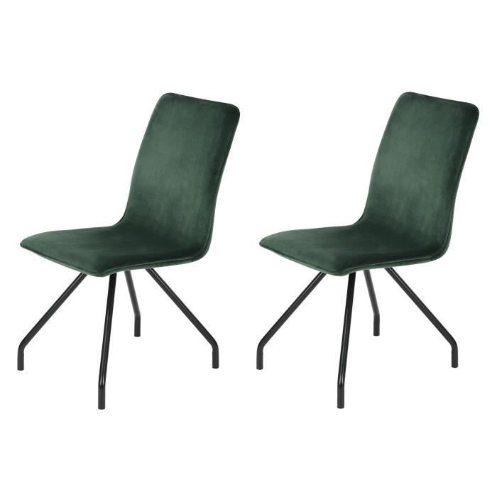 CHAISE LINNEA VELVET Lot de 2 chaises de salle à manger -