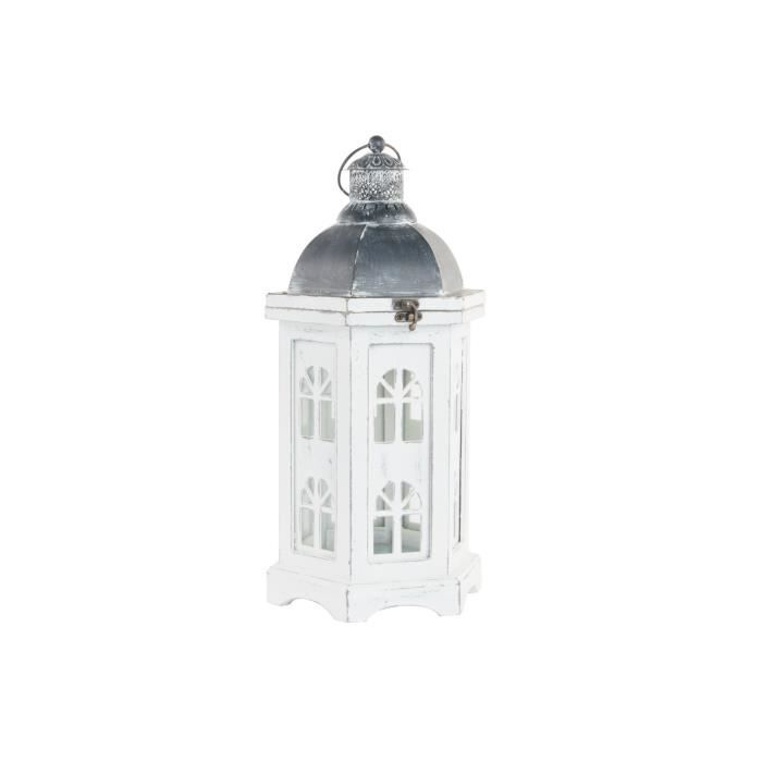 Lanterne bois verre 19x17x39cmPHOTOPHORE - LANTERNE A BOUGIE