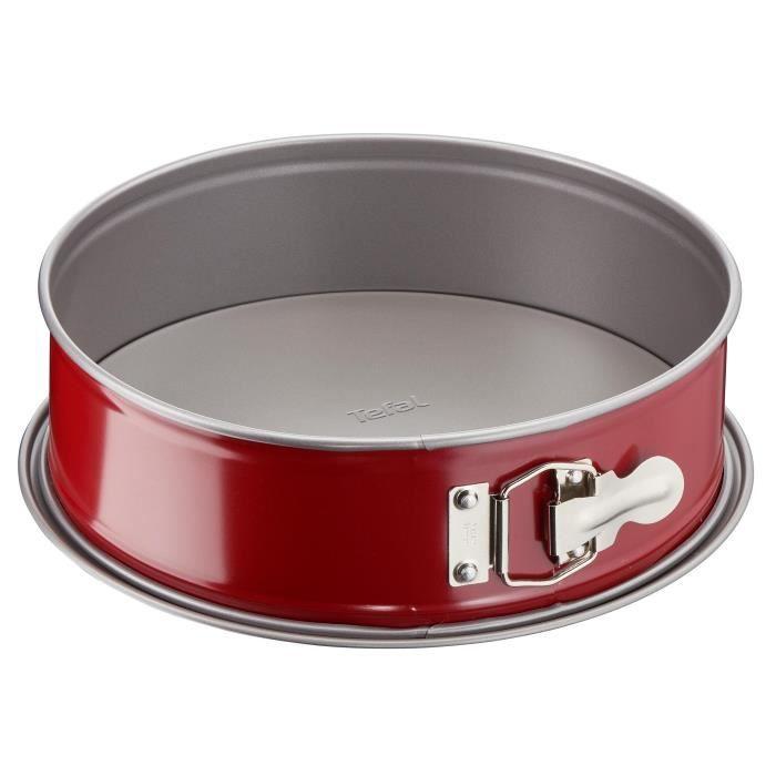 TEFAL Moule à charnière Delibake en acier - Ø 25 cm - Rouge et gris