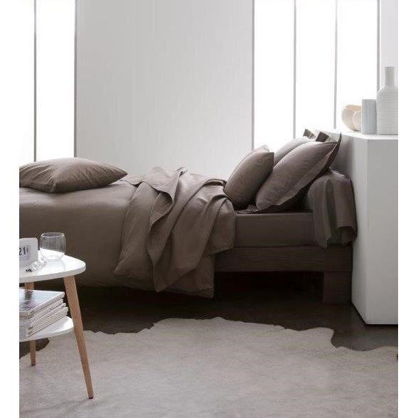 Dimensions : 140x200cm - Composition : 100% coton - Coloris : Bronze - Lavable à 60°CHOUSSE DE COUETTE