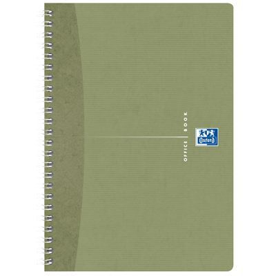 OXFORD Cahier reliure intégrale A5 - 180 pages - Petits carreaux - Office Recycle