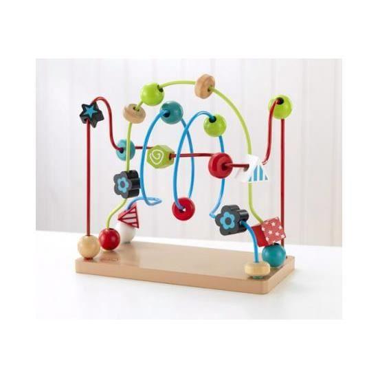 labyrinthe boule en bois massif jouet 1er age achat vente boulier cdiscount. Black Bedroom Furniture Sets. Home Design Ideas