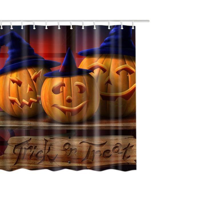 Happy Halloween Tissu en polyester imperméable rideau de douche 60 X 72 pouces _POI180720268