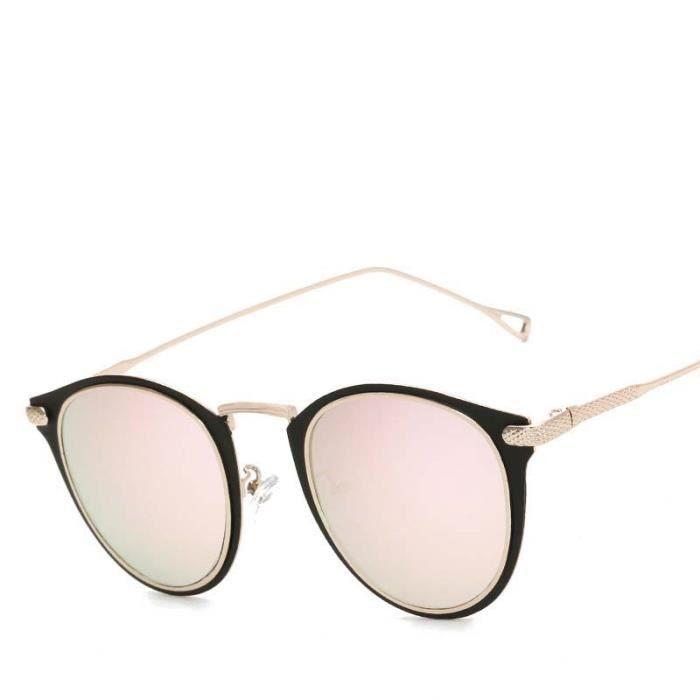 UV400 Lunettes de Soleil Femme Lunettes Solaires Vintage Mode Classique Aviator Sunglasses Cadre en Or