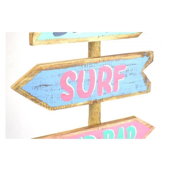 Panneau décoratif. Déco style Surf, chambre enfant ado. Multicolore ...