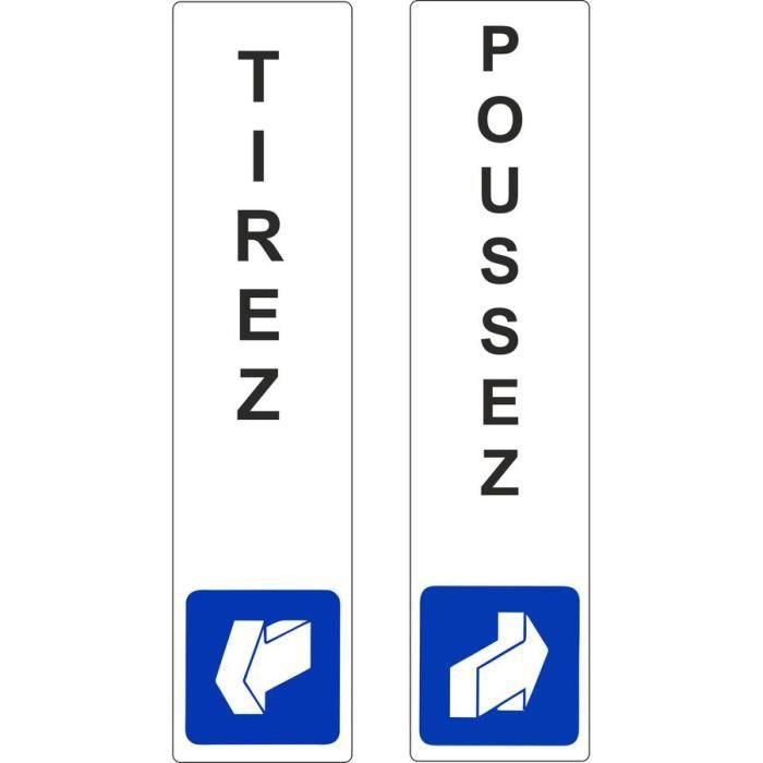 Autocollant Sticker Pousser Tirez Panneau Bureau Magasin Commerce