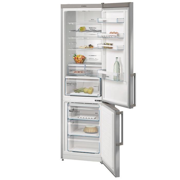 Réfrigérateur combiné 60cm 366l a++ no frost finition inox - Achat ...