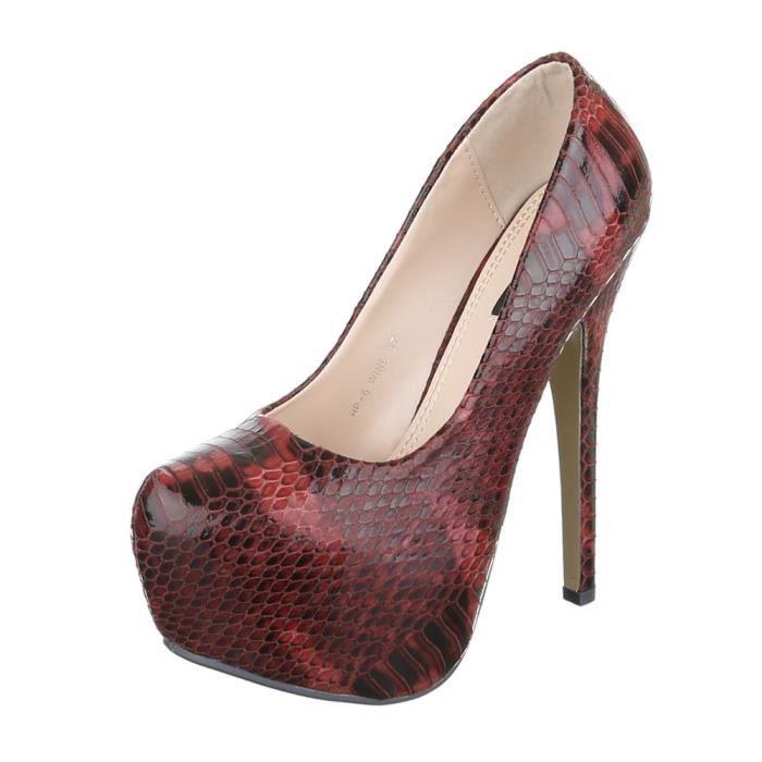femme escarpin chaussure High Heels Plateau