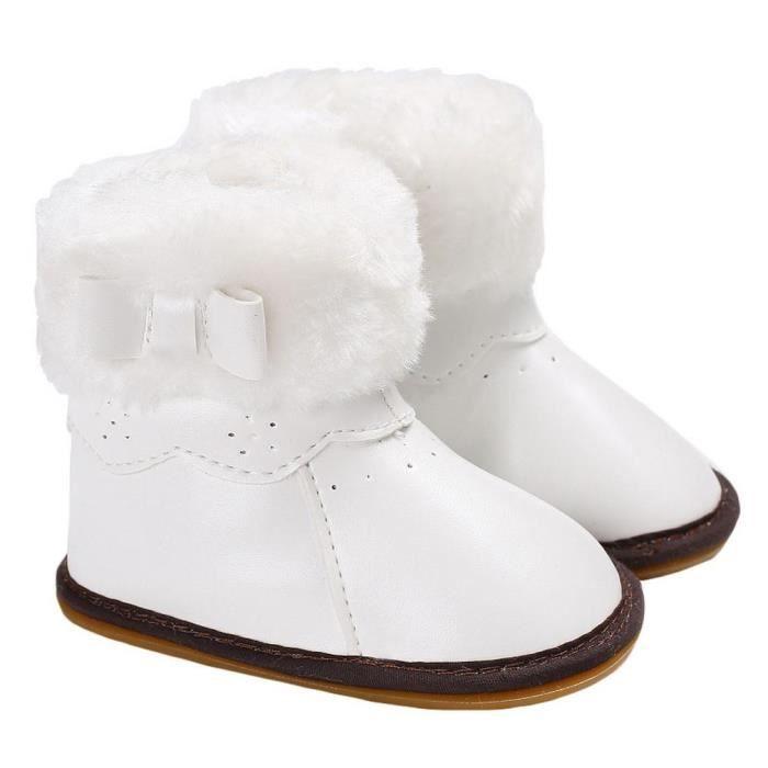 GIFT TOWER Bottines Bébé Fille Garçon Chaud Hiver Boots de Neige Velours Chaussures Marche Premier Pas Antidérapant Brun 9MkBqRHHa