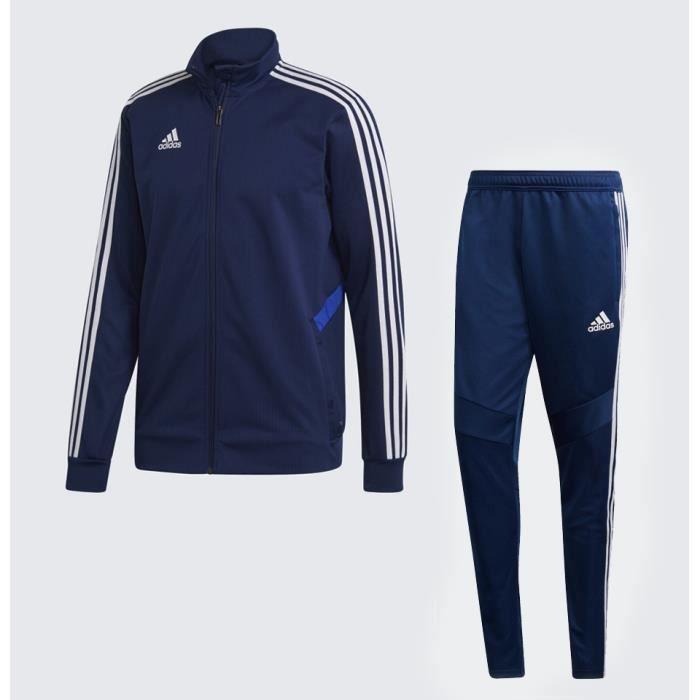survetement adidas bleu et blanc