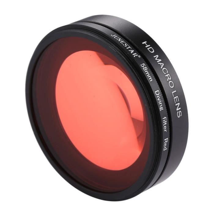 Filtre rouge pour GoPro HERO6   5 58mm 16X Macro Lentille + de de ... b85668bbd418