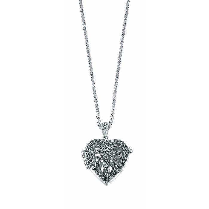 Elements - P2083h-n193 - Collier Femme Avec Pendentif - Coeur - Argent 925-1000 - 16.67 Gr - Marcassite Z8P0R
