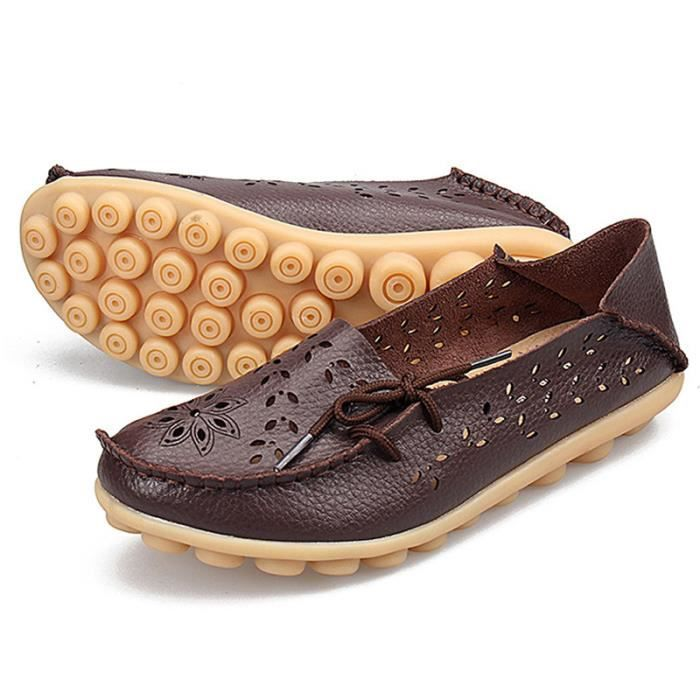 De Grands Filles Suprieure Beige Plat noir t Enfantsrespirant Cuir Femme Qualit Mode Sneakers Chaussure Simples Vritable xwgH4q7R0a