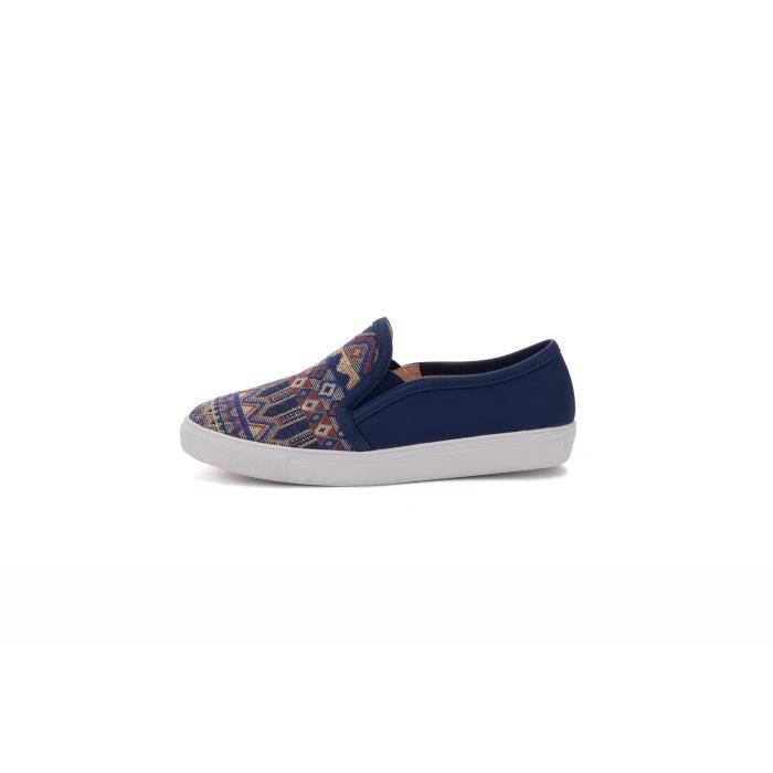 Cornelia) Slip Canvas Le Tribal Motif Chaussures de sport mode, ZG9YY Taille-36 1-2