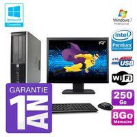 UNITÉ CENTRALE + ÉCRAN PC HP 8200 SFF Intel G630 8Go Disque 250Go Graveur