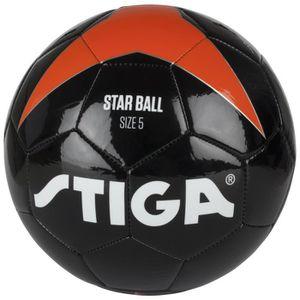 BALLON DE FOOTBALL STIGA Ballon de football Star - Noir et orange - T