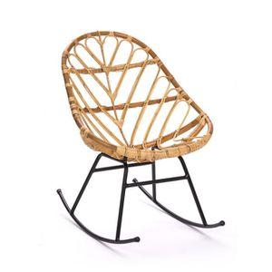 FAUTEUIL Rocking chair en rotin Ette - Couleur - Naturel